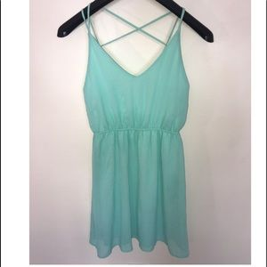 Mint Strappy Dress